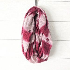 Steve Madden Distressed Striped Infinity Scarf